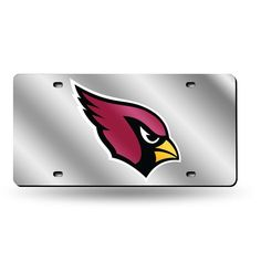 Arizona Cardinals NFL Laser Cut License Plate Cover Silver