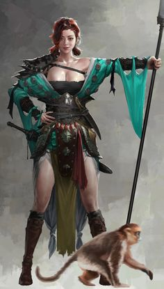 Oriental pirate by kim jongeun on ArtStation. Fantasy Warrior, Fantasy Girl, Chica Fantasy, Warrior Girl, Fantasy Women, Fantasy Rpg, Medieval Fantasy, Fantasy Artwork, Warrior Princess