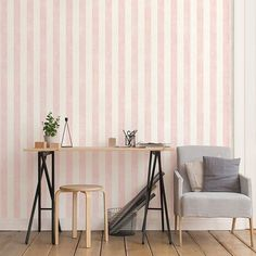 Stripes with Texture Wallpaper from Simply Stripes 3 by Patton. Priced by single roll & packaged double. Pink Stripe Wallpaper, Brick Wallpaper Roll, Embossed Wallpaper, Wallpaper Panels, Textured Wallpaper, Textured Walls, Striped Walls, Prepasted Wallpaper, Wall Backdrops