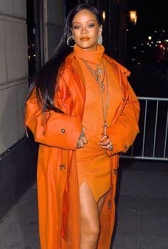Rihanna Reveals She's Working With The Neptunes on Her New A.-Rihanna Reveals She's Working With The Neptunes on Her New Album Celebrity News For Feb. Rihanna Style, Celebrity Style, Celebrity News, Orange Aesthetic, Bad Gal, Rihanna Fenty, Orange Fashion, Celebs, Celebrities