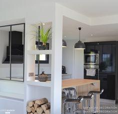 Décoration et aménagement d'un séjour / cuisine de 60m2, Brive-la-Gaillarde, Samantha Décoration - décorateur d'intérieur