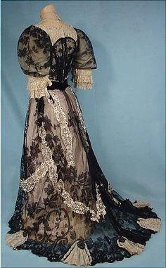1905 vestido de noche (1905 evening dress)
