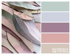 muted pastel colours, soft pink, purples and greens. - Inspirational colours for interior design Colour Schemes, Color Combos, Color Palettes, Blush Color Palette, Pastel Palette, Neutral Palette, Neutral Tones, Textures Patterns, Color Patterns