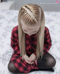 160 Braids Hairstyle Ideas for Little Kids - hairstyles_pinterey Little Girl Hairstyles, Pretty Hairstyles, Easy Hairstyles, Hairstyle Ideas, Teenage Hairstyles, Braided Hairstyles For Kids, Woman Hairstyles, Hairstyles 2018, Girl Hair Dos