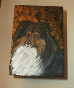Collie Dog Hand Painted Pen Holder by daniellesoriginals on Etsy, $20.00