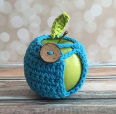 Apple Jacket - Hand Crocheted Blue