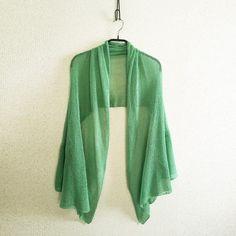 ◆特別価格◆Rigel[リゲル] 袖付きストール / ミント・グリーンの画像1枚目