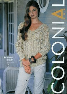 Phildar 446 Knitting Magazine, Crochet Magazine, Sweater Knitting Patterns, Lace Knitting, Knitting Books, Knitting Projects, Free Crochet, Knit Crochet, Pulls