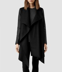 275922ca46 Buy AllSaints City Monument Coat, Black from our Women's Coats & Jackets  range at John Lewis & Partners.