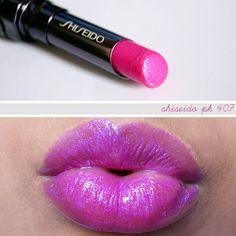 Shiseido PK407 lipstick shimmer veil