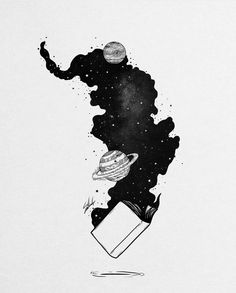 Digital designer and illustrator Muhammed Salah. Muhammed Salah is a 27 years old artist, illustrator, art director, digital designer and graphic designer. Space Drawings, Cool Art Drawings, Art Drawings Sketches, Ink Illustrations, Galaxy Painting, Galaxy Art, Galaxy Space, Art Sketchbook, Ink Art