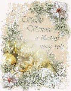 Vánoční přání 1 | vánoční blog Online Image Editor, Online Images, Advent, Christmas Wreaths, Table Decorations, Holiday Decor, Blog, Free, Wedding