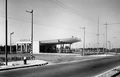 STAZIONE DI SERVIZIO CARBURANTI Sesto San Giovanni (MI) – 1949 Architettura: Aldo Favini Strutture: Aldo Favini