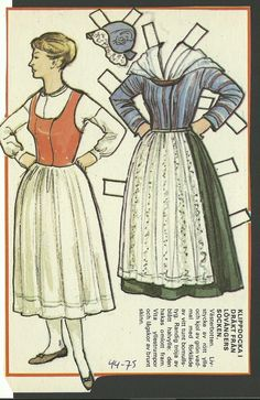 Female Costume Lovangers Sweden Vintage Swedish Paper Doll | eBay