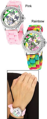 Butterflies Silicone Watch - Funds research and therapy for children with autism!