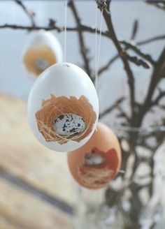 Easter egg dioramas Decor for Easter tree
