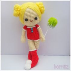 """Very cute little crocheted amigurumi doll"" #Amigurumi  #crochet"