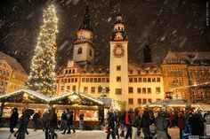 Chemnitz Nacht Weihnachtsmarkt
