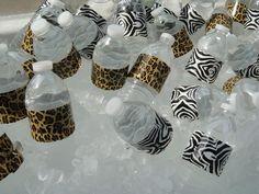 Animal Print Duct Tape Water Bottles