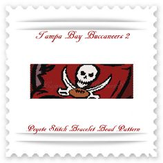 For all the TAMPA BAY BUCCANEERS fans!  THIS PDF Bead Pattern INCLUDES THE FOLLOWING:  1. A bead legend (bead numbers and colors needed) 2. The pattern design 3. A large, detailed, numbered graph of t