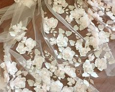 Gorgeous Embossed Chiffon Flower Lace Fabric Embroider Floral Lace Mesh Gauze for Prom Dress Wedding Gown 59 inches Width Sold by 1 yard White Lace Fabric, Embroidered Lace Fabric, Tulle Lace, Floral Lace, Sequin Wedding, Bridal Wedding Dresses, Wedding Reception, Wedding Embroidery, Gown Photos