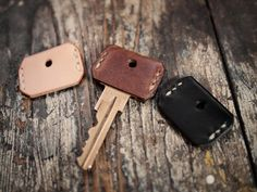 Leather Key Cover: Hollows Leather A little bit of leather makes a big style punch in these leather key covers from Hollows Leather.
