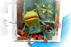Items similar to Frog, glove doll on the handle of the child, for home puppet theater. I'm taking repeat orders. on Etsy Finger Puppets, Toys Shop, Repeat, Kids Toys, Theater, Fairy Tales, Dinosaur Stuffed Animal, Gloves, Miniatures