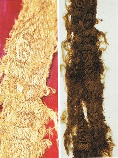 Norse finds in Pomerania Wolin.  fragments of silk fabric.