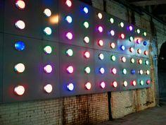 Light installation under bridge in Southwark St London, via Flickr.