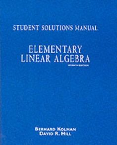Download free Elementary Linear Algebra: Student Solutions Manual pdf