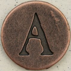 Copper Uppercase Letter A by Leo Reynolds, via Flickr