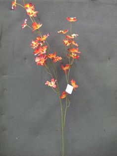 Tanday Red-Orange Oncidium Orchid Silk Spray 94784. $9.95, shipping $3.95 to US, $6.95 to Japan.