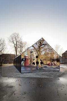 Mirror House at Copenhagen Central Park by MLRP