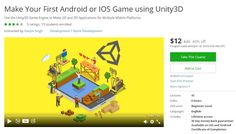 Coupon Udemy - Make Your First Android or IOS Game using Unity3D ($12 Only) (40% Off) - Course Discounts & Free