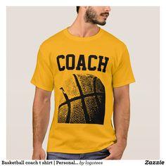 Basketball coach t shirt | Personalizable