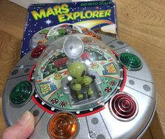 Selling this on ebay! Vintage space toy Mars Explorer. Go to my instagram to see a video of the UFO in action!