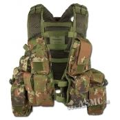 Gilet RSA vegetato  Gilet RSA vegetato. Gilet polyvalent avec 13 poches (6 emplacements pour chargeurs de 5.56, 3 poches multi-usages, 2 petites poches à grenade et une musette dorsale en 2 parties).... prix : 29.99 €  chez ASCM #ASCM