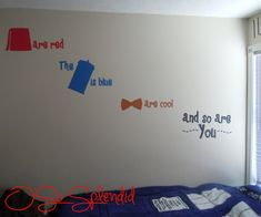 "Doctor Who Inspired Wall Vinyl Decal - ""Fezes are Red, The TARDIS is Blue, Bowties are Cool and So are You"" 4 Color Sticker"