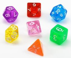 Add some color to your game with a set of Hard Candy translucent dice. Each...