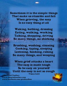 The not so simple things of grief a poem | The Grief Toolbox