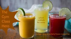 As a woman who sometimes likes to make healthy choices, you know that all-natural ingredients are best. Load up on these strawberry, mango or lime frozen #margaritas that are as delicious as they are natural. #cocktails #recipe