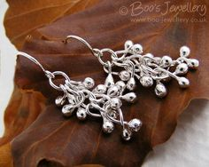 Sterling silver raindrop twisted bud earrings by BooJewels on Etsy, £25.00