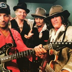 Johnny Depp performs with his band 'Hollywood Vampires' at the Roxy Theatre - September 16 Johnny Depp, The Hollywood Vampires, Legend Music, Joe Perry, Band Pictures, Chuck Berry, Captain Jack Sparrow, Perfect Boy, Hot Actors