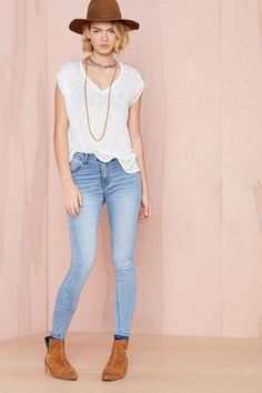 Blue Skies Skinny Jeans | Shop What's New at Nasty Gal