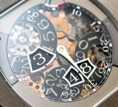 Closeup on the dial of the F.P. Journe Vagabondage III Jumping-Seconds.