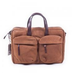 37adf285514 Laptoptas Burkely Camel Businessbag 2 Pocket Cognac 15 inch Voorkant