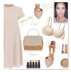 """neutrals for you"" by katymill on Polyvore featuring 'S MaxMara, Steve Madden, Hollister Co., Delpozo, Aromatherapy Associates and Derek Lam"