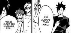 kuroo, tsukishima, hinata, manga, http://ravenousflyingbears.tumblr.com/post/121165020157/when-your-friends-know-you-fake-af