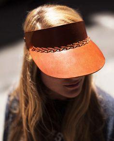 Leather visor | garance dore.