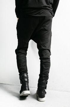 Men's Clothing Pants Hot Men Slim Muscle Man Pant Street Clubwear Hip Urban Straight Leg Trousers Casual Pencil Jogger Pants